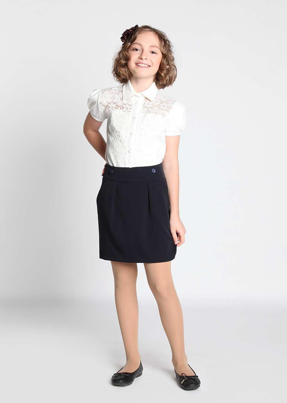 Блуза Илона школьная для девочек