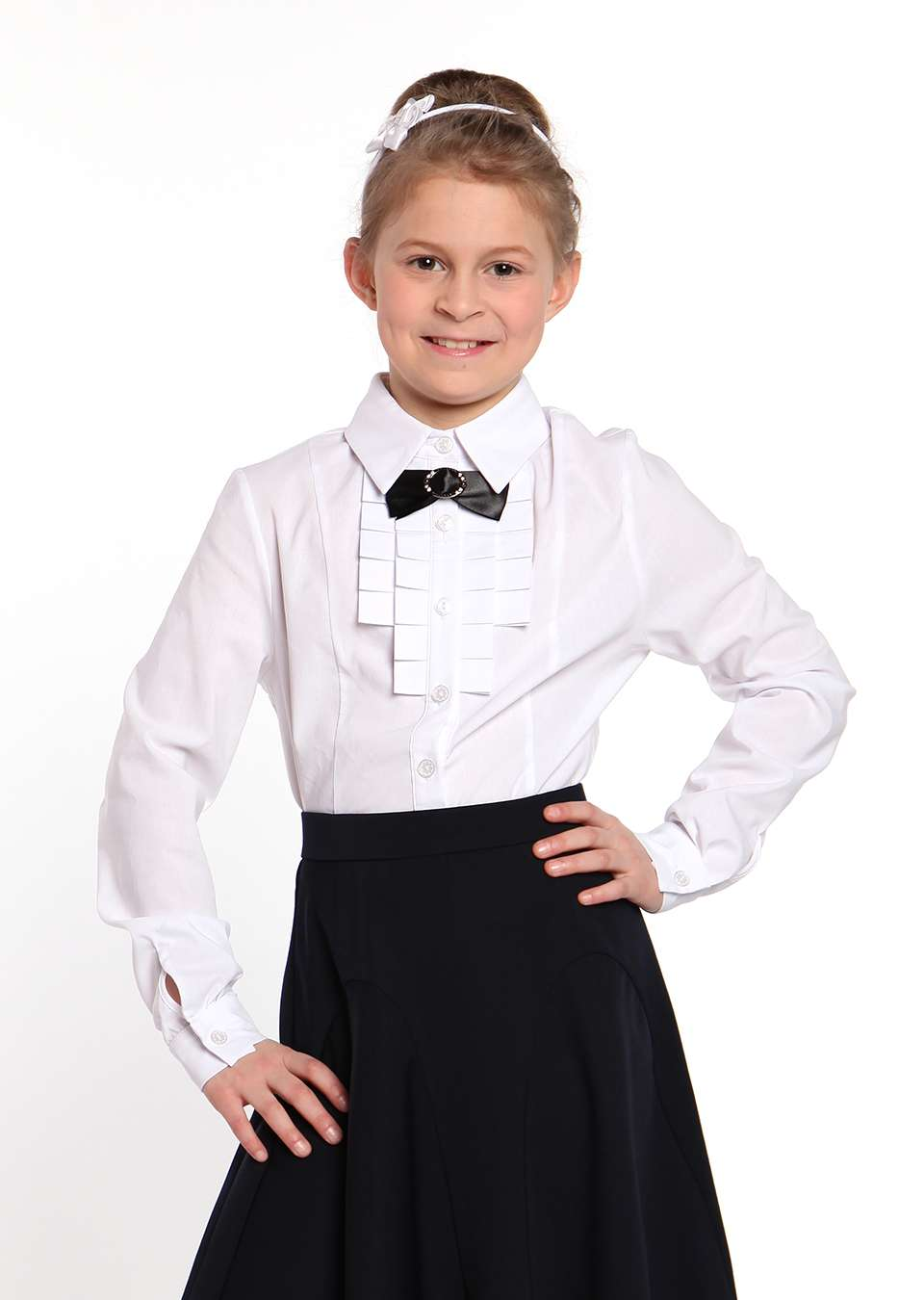 Блузка школьная для девочки Фистон