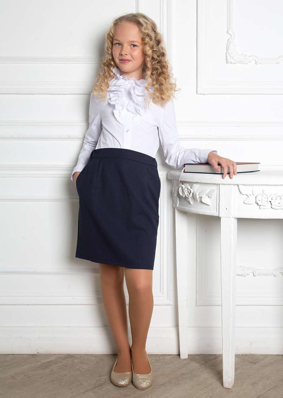 Блузка Лея школьная  для девочки