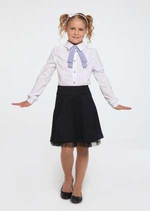 Блуза с галстуком школьная для девочек