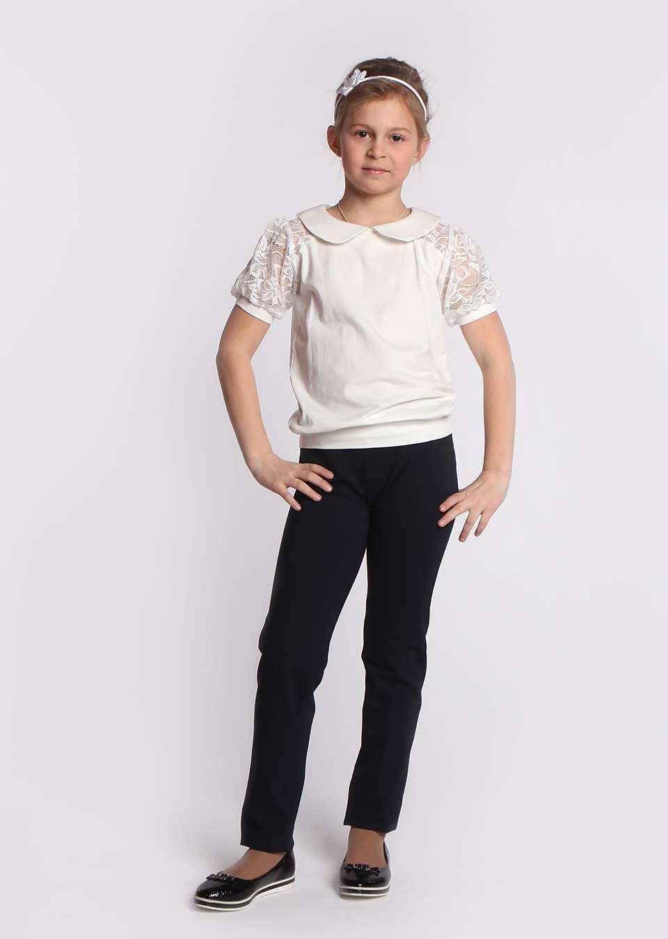 Блуза с круглым воротничком
