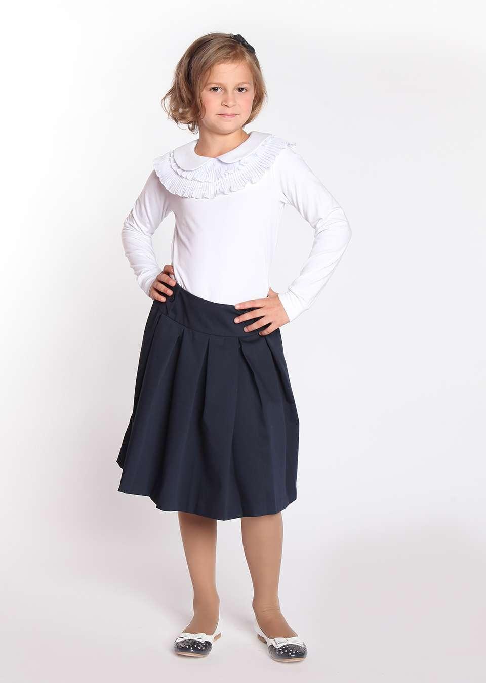 Блузка Жабо школьная для девочек
