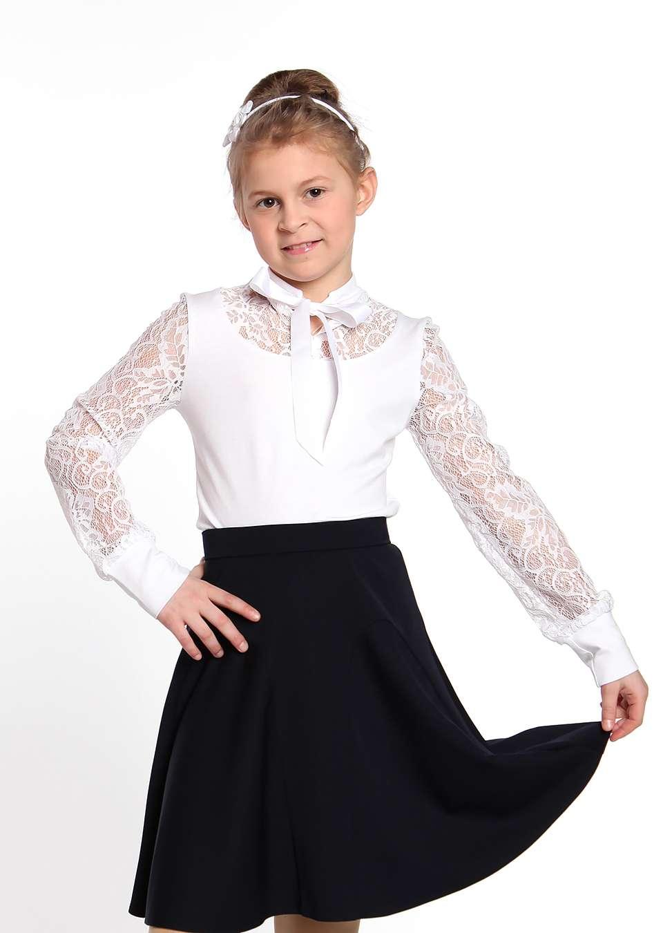 Блузка Лена школьная для девочек