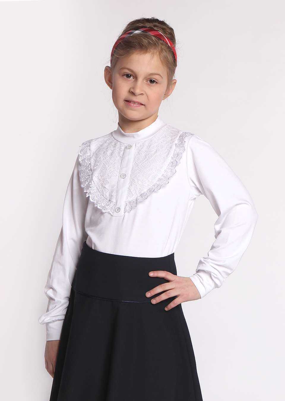 Блуза с планкой и кокеткой