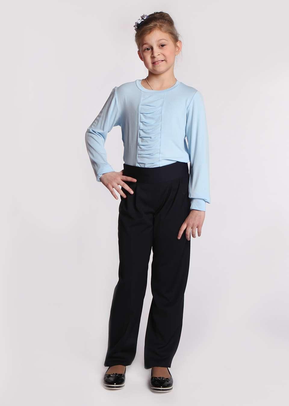 Блузка с вставкой школьная для девочки