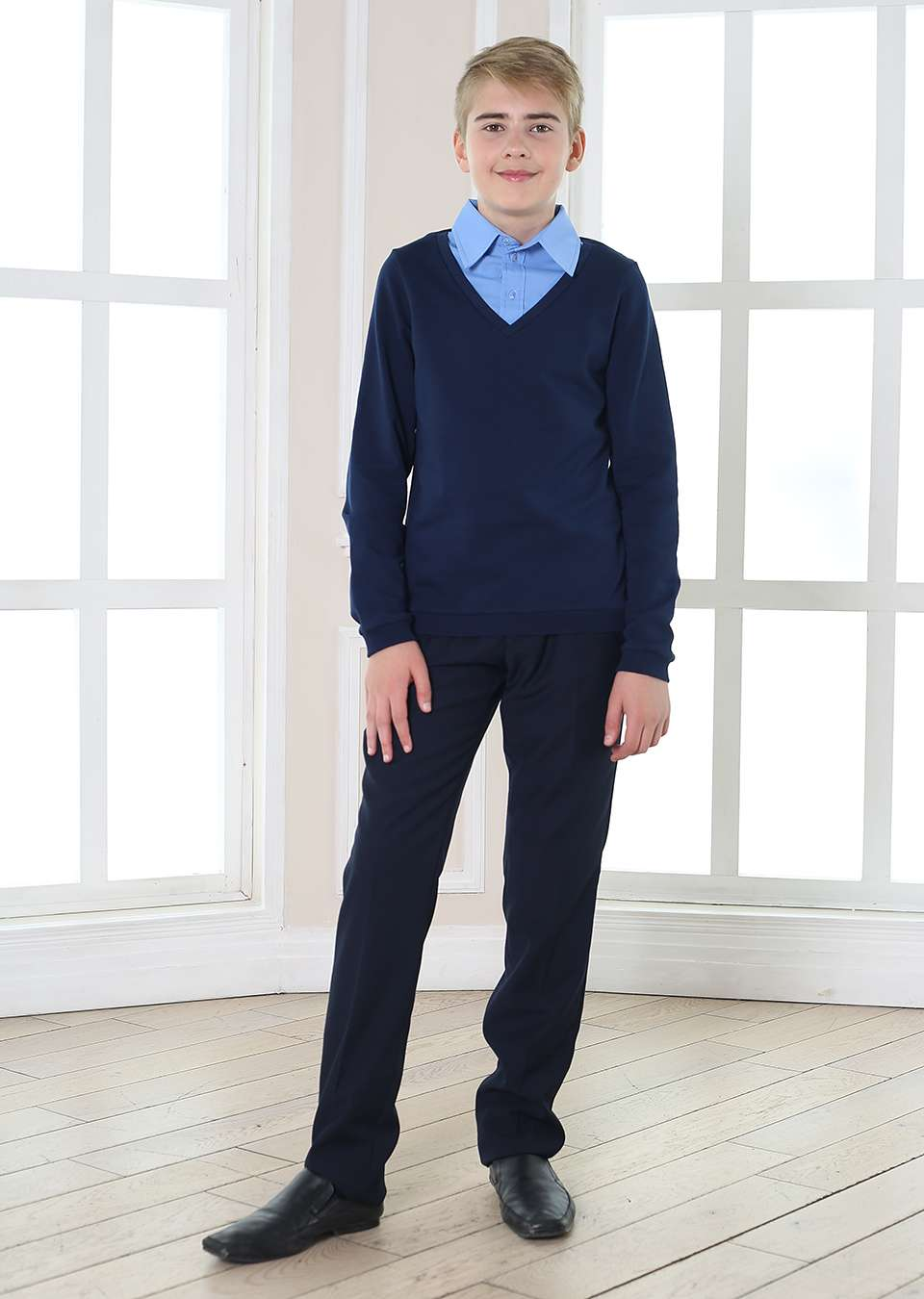 Обманка пуловер школьный