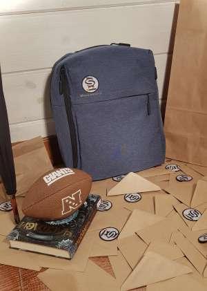 Рюкзак синий, школьный