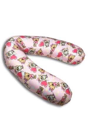 Подушка для кормления (Релакс) 190см Мишки розовые