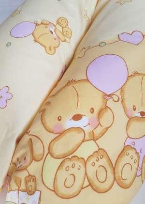 Подушка для кормления 190см бежевые мишки